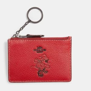 Coach Bags - COACH Minnie Mini ID Skinny Leather  Wallet